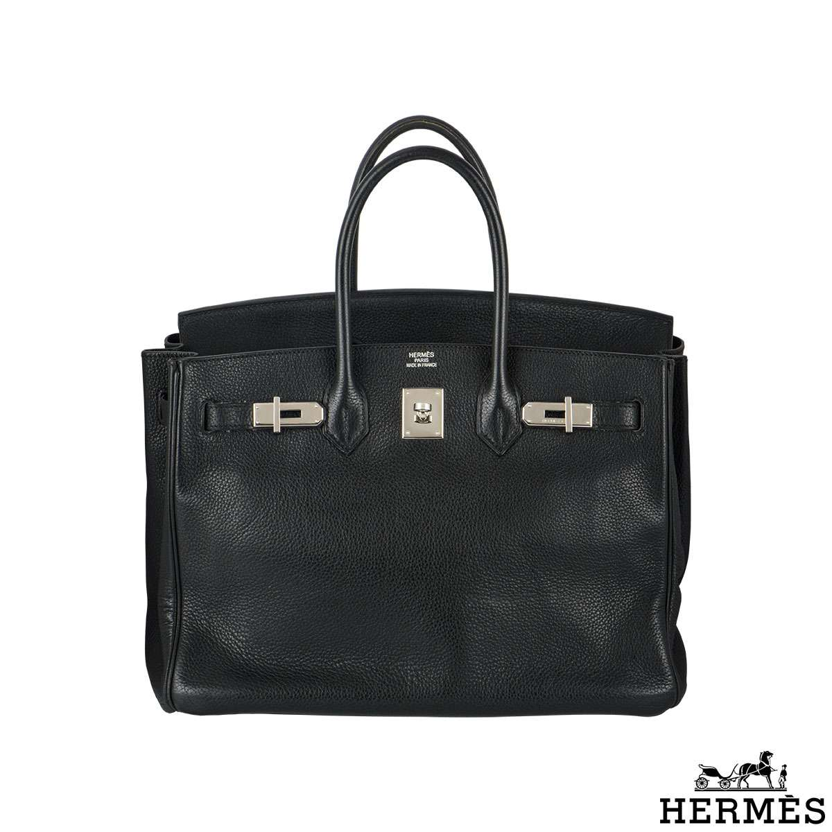 Hermes Birkin 35cm Togo Leather PHW Handbag